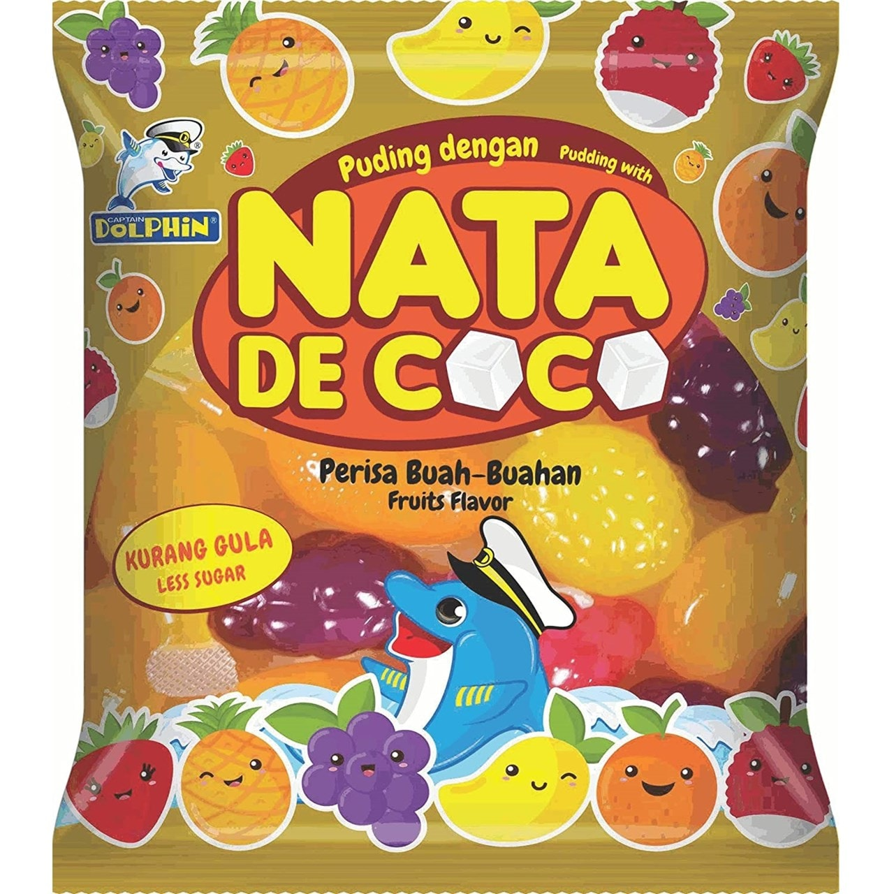 Nata De Coco Pudding: Assorted Fruit Flavour Jellies: Case Of 6 (12 Jellies Per Bag) - 1