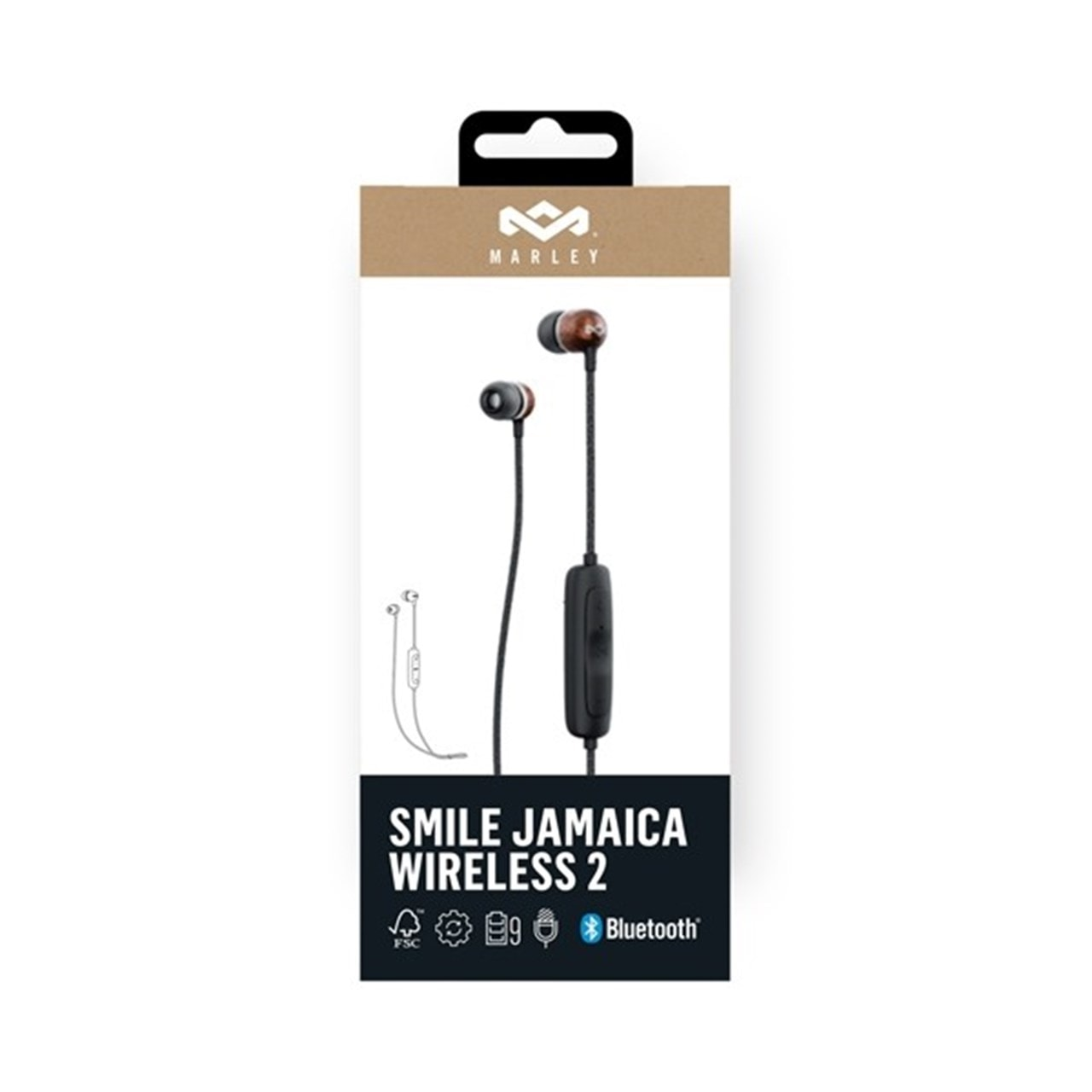 House Of Marley Smile Jamaica BT 2 Signature Black Bluetooth Earphones - 4