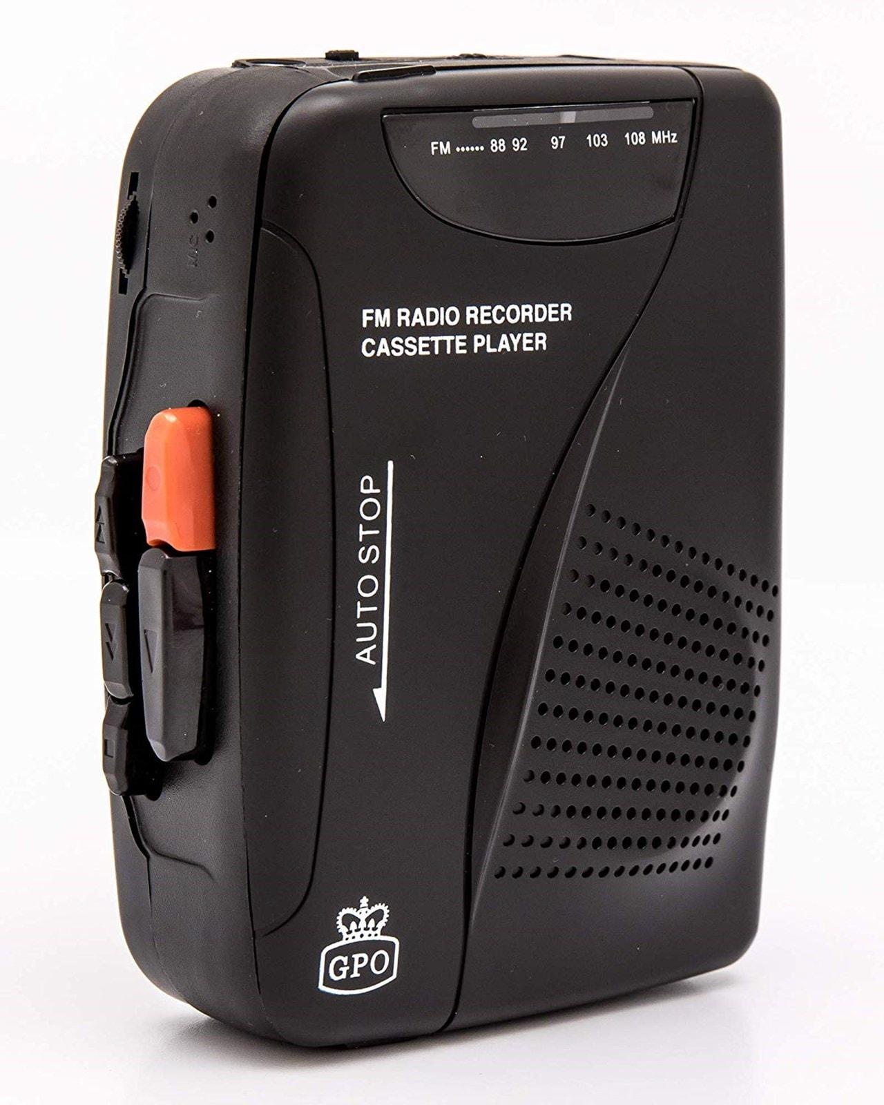 GPO Retro Black Portable Cassette Player - 5