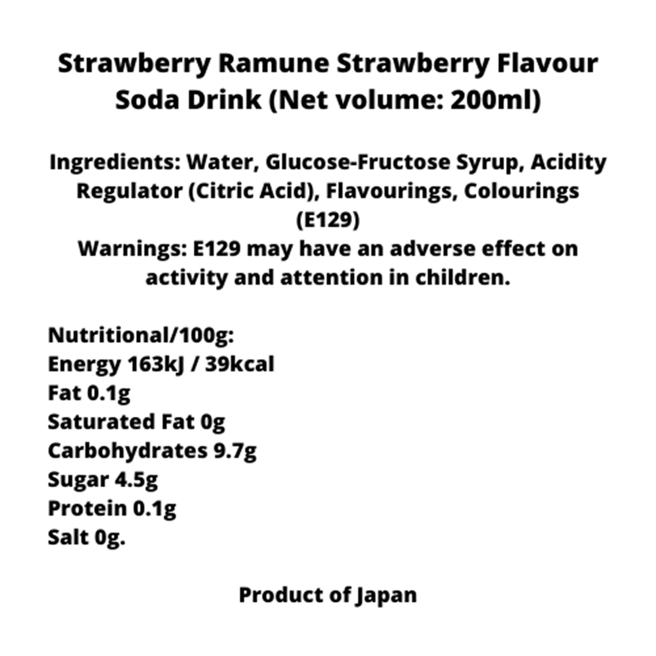 Hata Strawberry Ramune: Soft Drink Pack of 6 - 2
