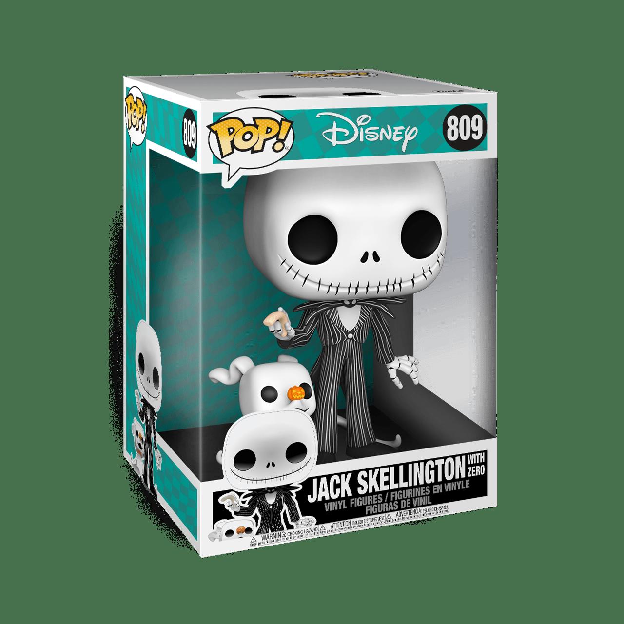 Jack with Zero 10'' (809) The Nightmare Before Christmas: Disney Pop Vinyl - 2