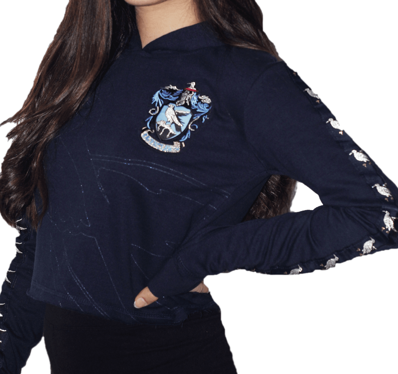 Harry Potter: Ravenclaw Ladies Cropped Hoodie (Small) - 1