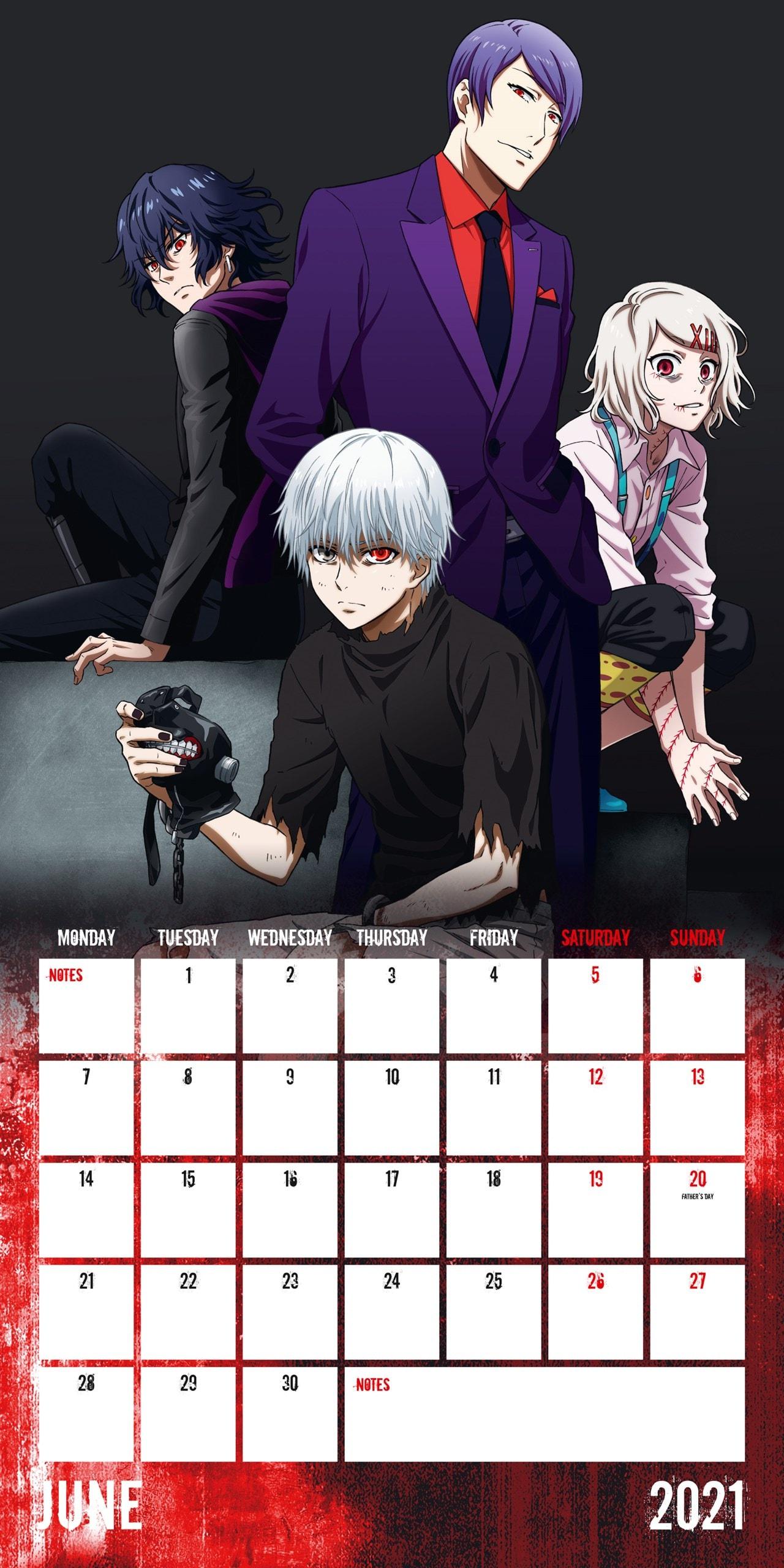 Tokyo Ghoul: Square 2021 Calendar - 2