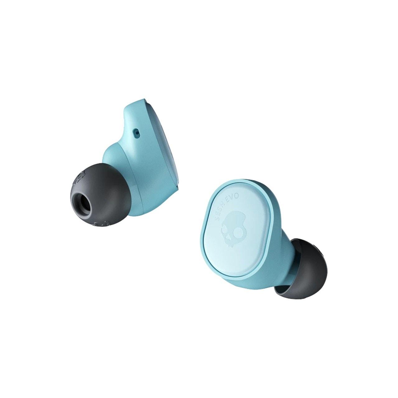 Skullcandy Sesh Evo Bleached Blue True Wireless Bluetooth Earphones - 2