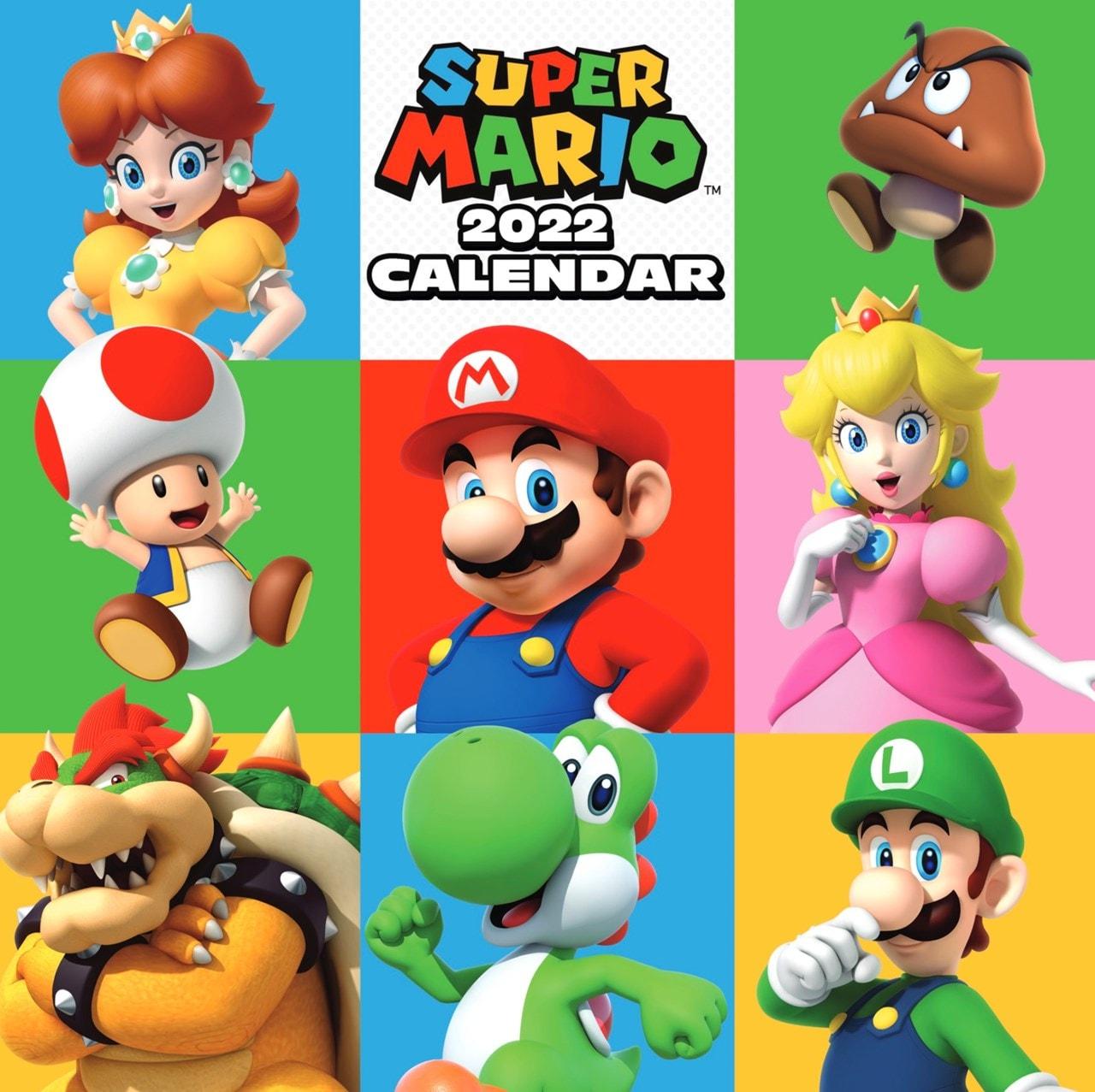 Super Mario: Square 2022 Calendar - 1