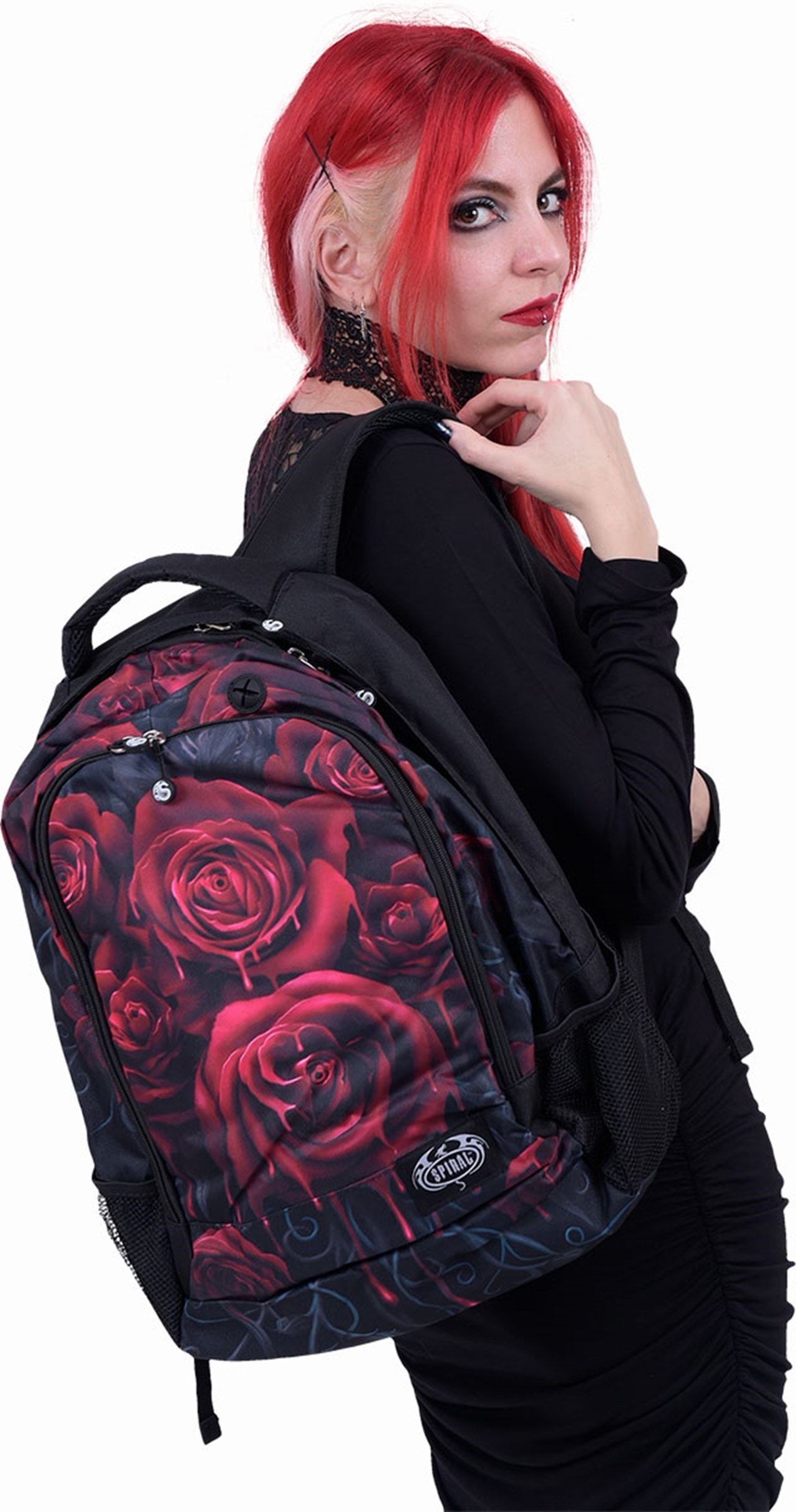 Blood Rose Backpack with Laptop Pocket - 2