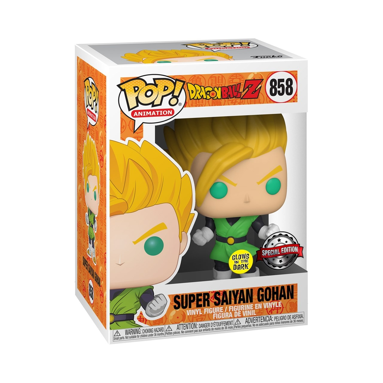 Super Saiyan Gohan (858) Dragon Ball (hmv Exclusive) Glow in the Dark Pop Vinyl - 2