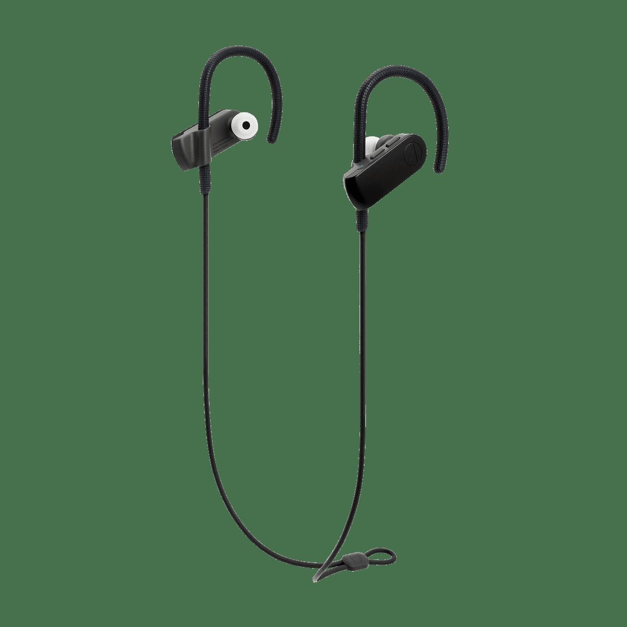 Audio Technica ATH-SPORT50BT SonicSport Black Bluetooth Headphones - 1