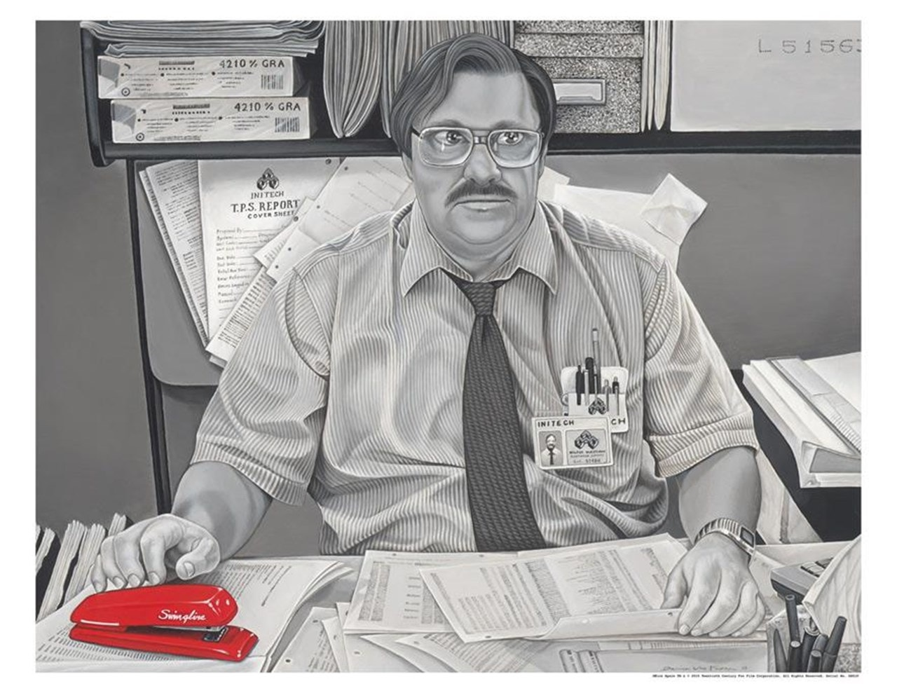 Office Space: Milton Waddams Limited Edition Art Print - 1