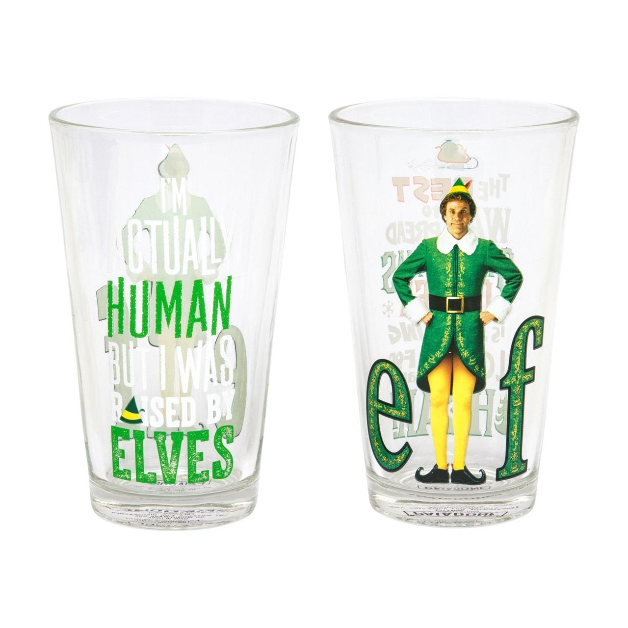 Set of 2 Elf Glasses: Large Glass Gift Set - 2