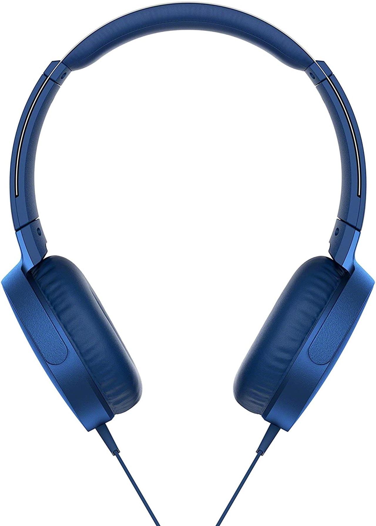 Sony XB550AP Blue Extra Bass Headphones - 2