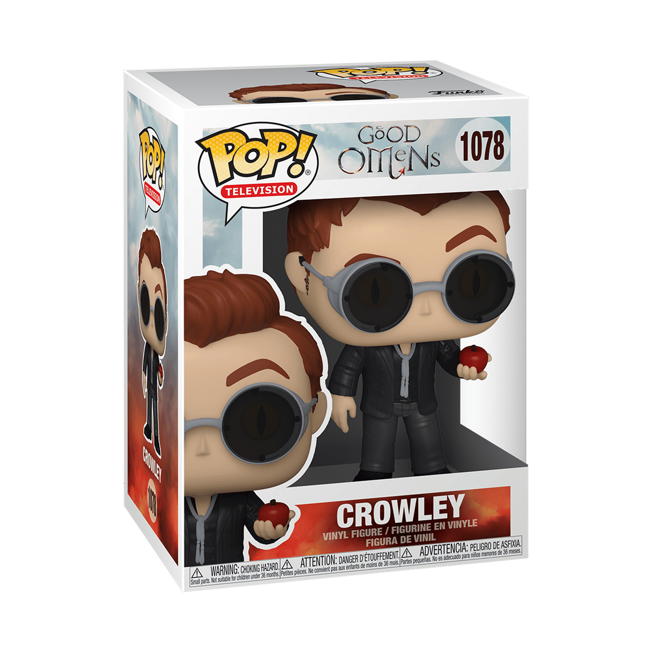 Crowley With Apple (1078) Good Omens Pop Vinyl (with Ice Pop Chase) - 2