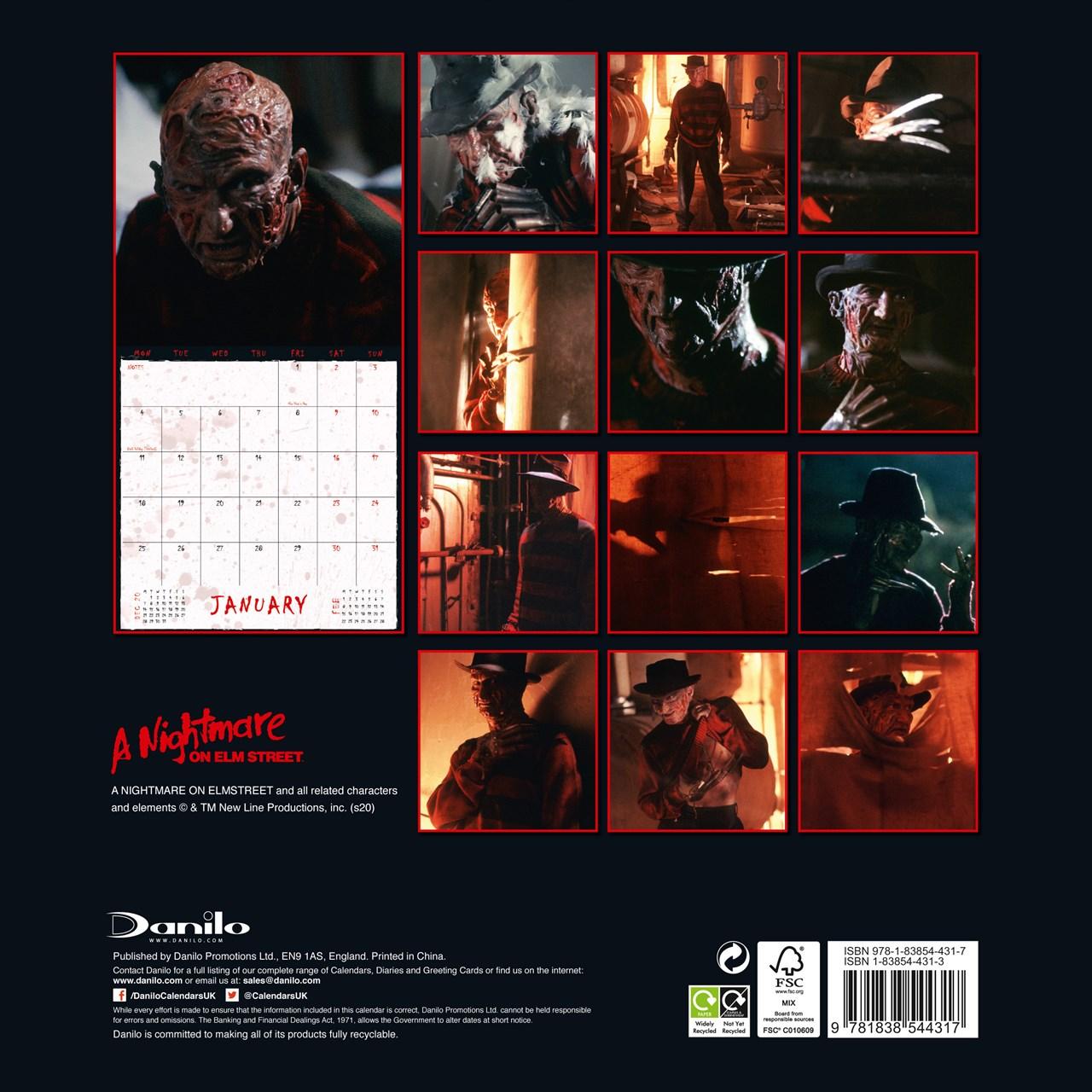 A Nightmare On Elm Street: Square 2021 Calendar - 3