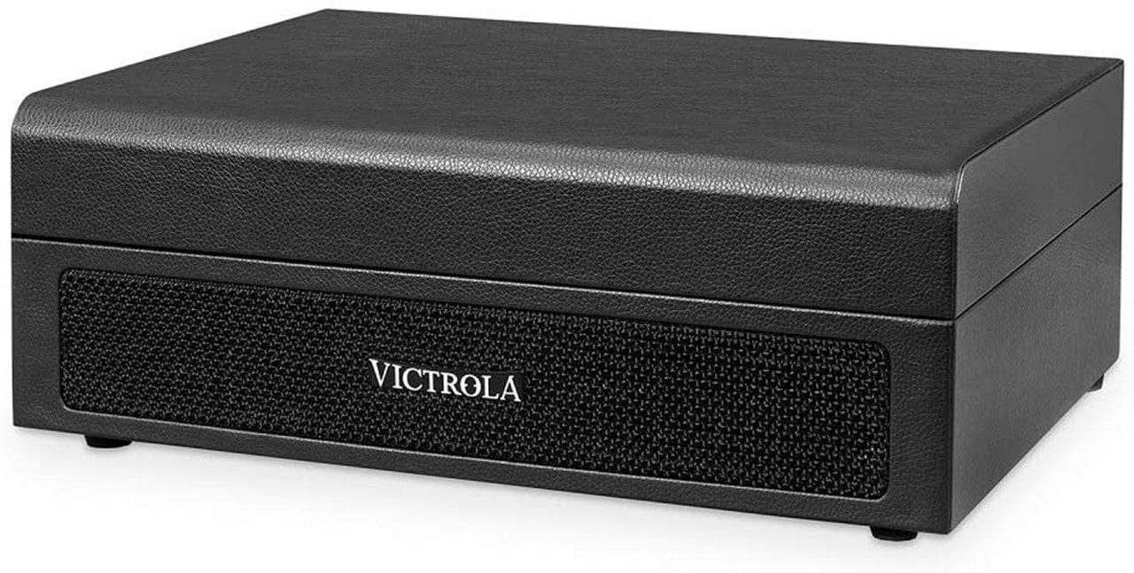 Victrola Premium Black Suitcase Bluetooth Turntable - 3