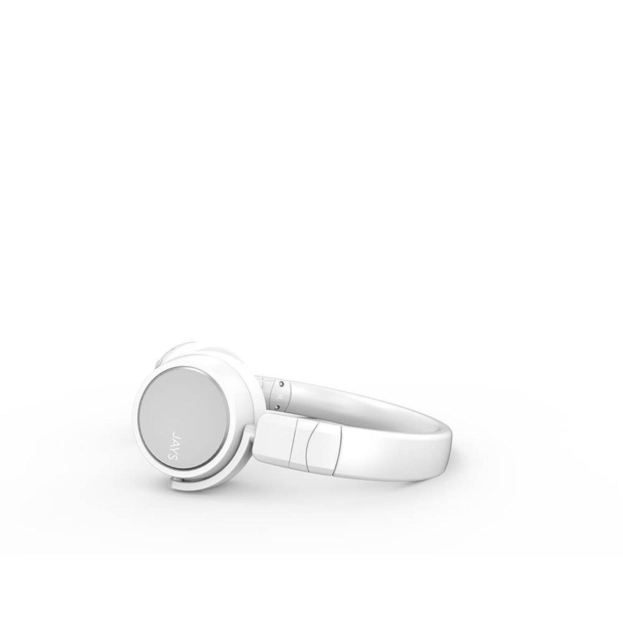 Jays X-Five White Bluetooth Headphones - 2