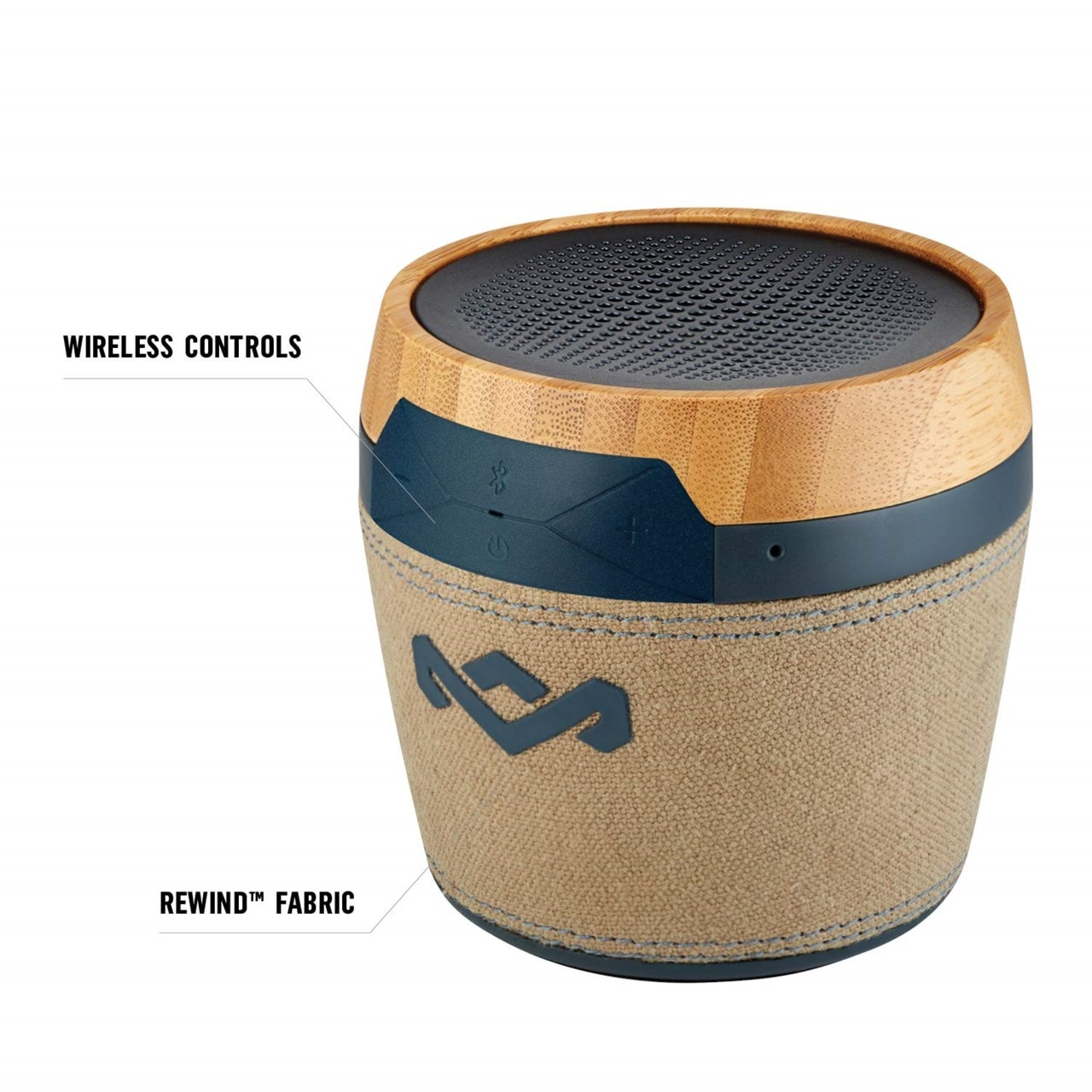House Of Marley Chant Mini Navy Bluetooth Speaker - 3