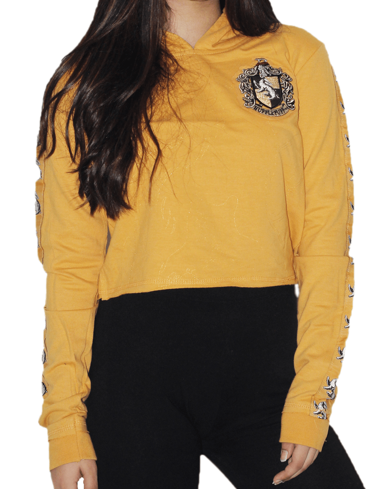 Harry Potter: Hufflepuff Ladies Cropped Hoodie (Small) - 3