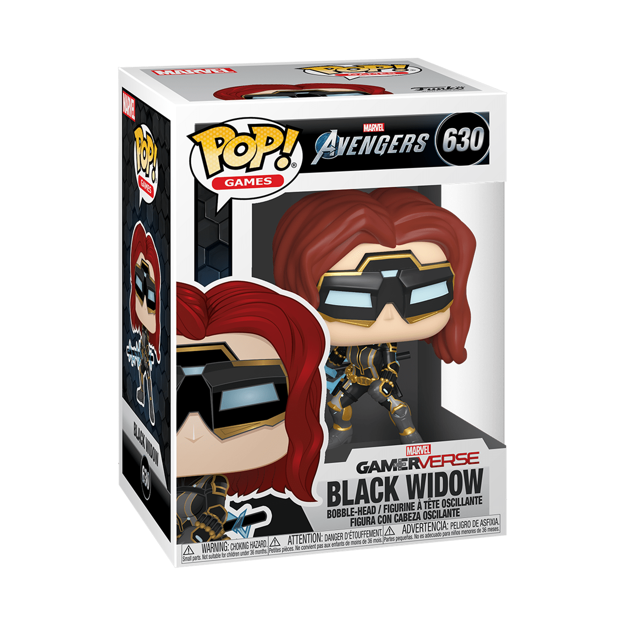 Black Widow (630) Avengers Gamerverse Marvel Pop Vinyl (Glow in the Dark Chase) - 3