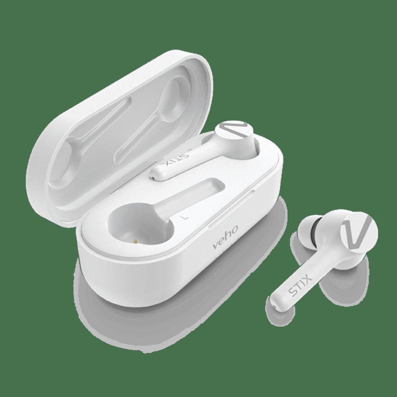 Veho STIX Ice White True Wireless Bluetooth Earphones - 2