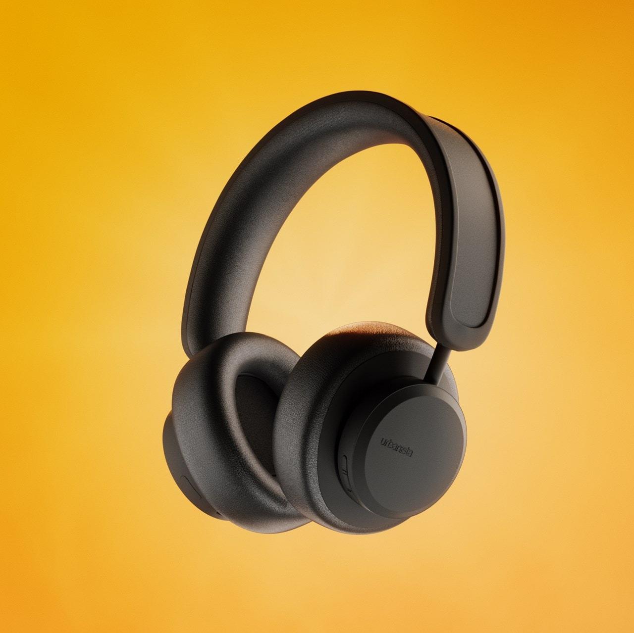 Urbanista Los Angeles Midnight Black Solar Powered Active Noise Cancelling Bluetooth Headphones - 4