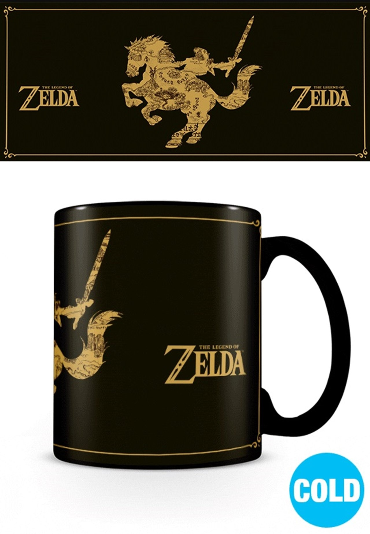 Heat Changing Mug: Legend Of Zelda: Map Silhouette - 1
