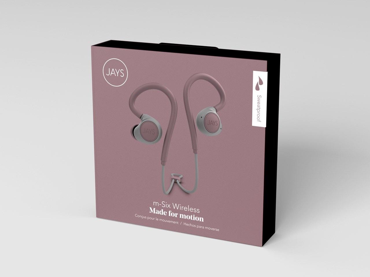 Jays M-Six Dusty Rose Sports Bluetooth Earphones - 1