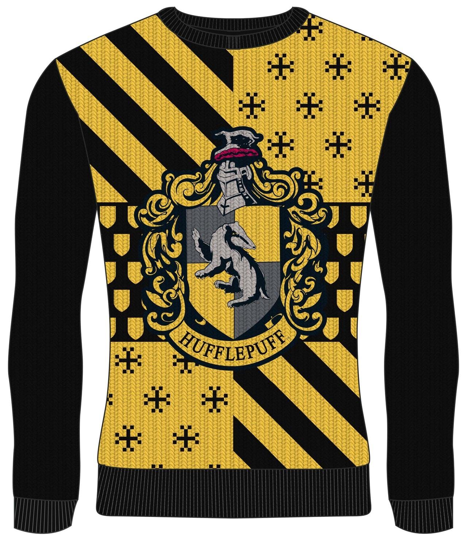 Hufflepuff Crest: Harry Potter Christmas Jumper (Small) - 1