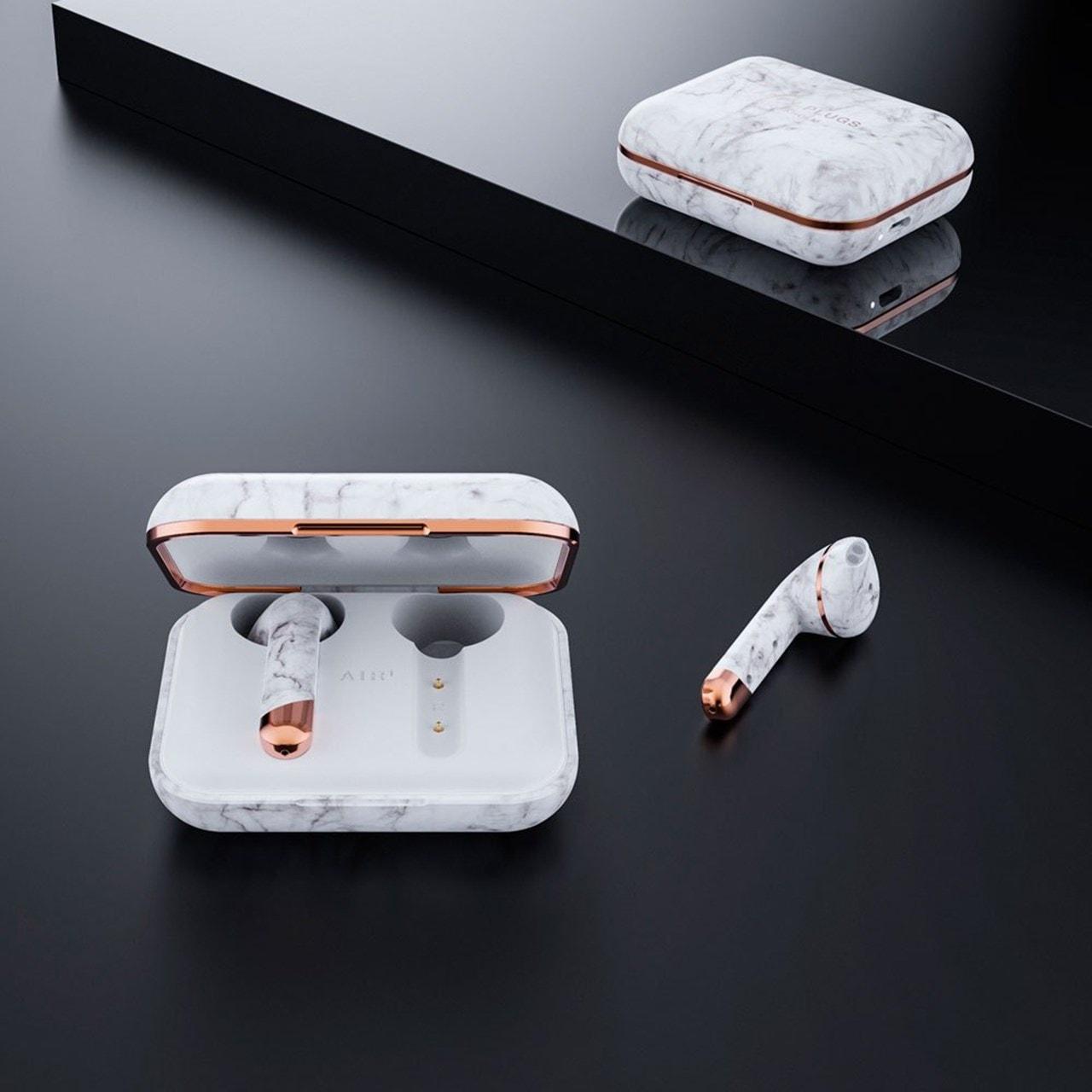 Happy Plugs Air1 White Marble True Wireless Bluetooth Headset - 5
