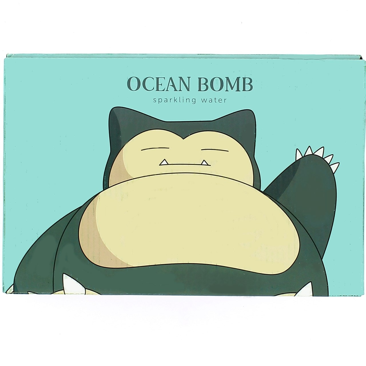 Pokemon (Snorlax) Ocean Bomb: White Grape Flavour Sparkling Water: Case Of 24 - 1