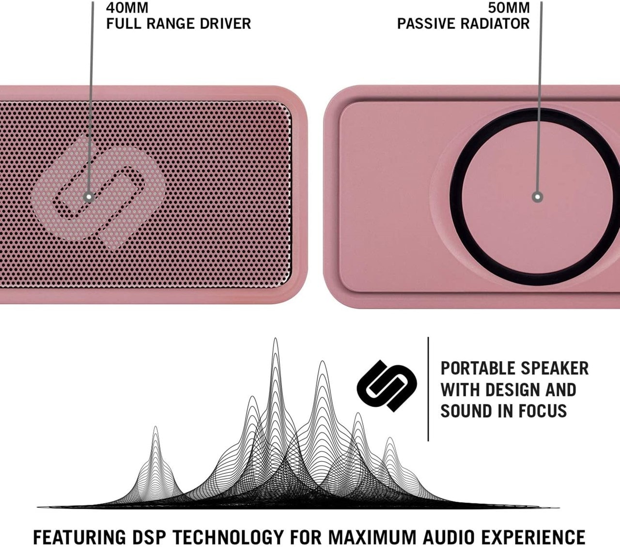 Urbanista Melbourne Rose Gold Bluetooth Speaker - 3