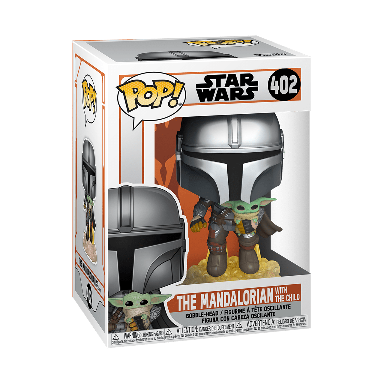 The Mandalorian Flying with The Child (402) Star Wars Pop Vinyl - 2