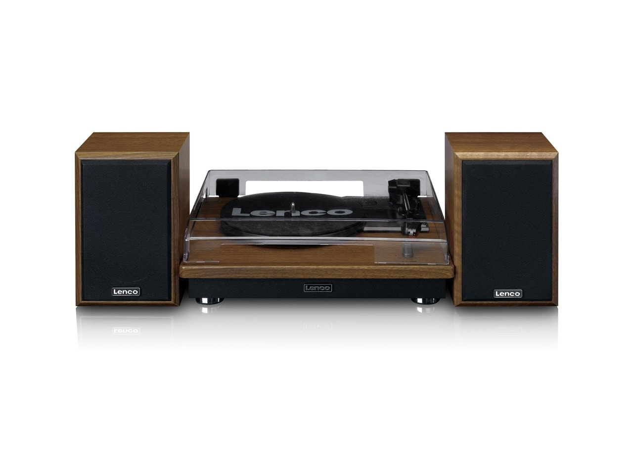 Lenco LS100 Wood Turntable & Speakers - 3