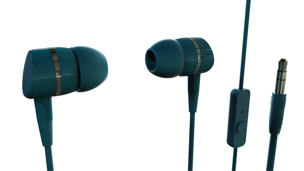 Vivanco Smartsound Petrol Blue Earphones W/Mic - 1