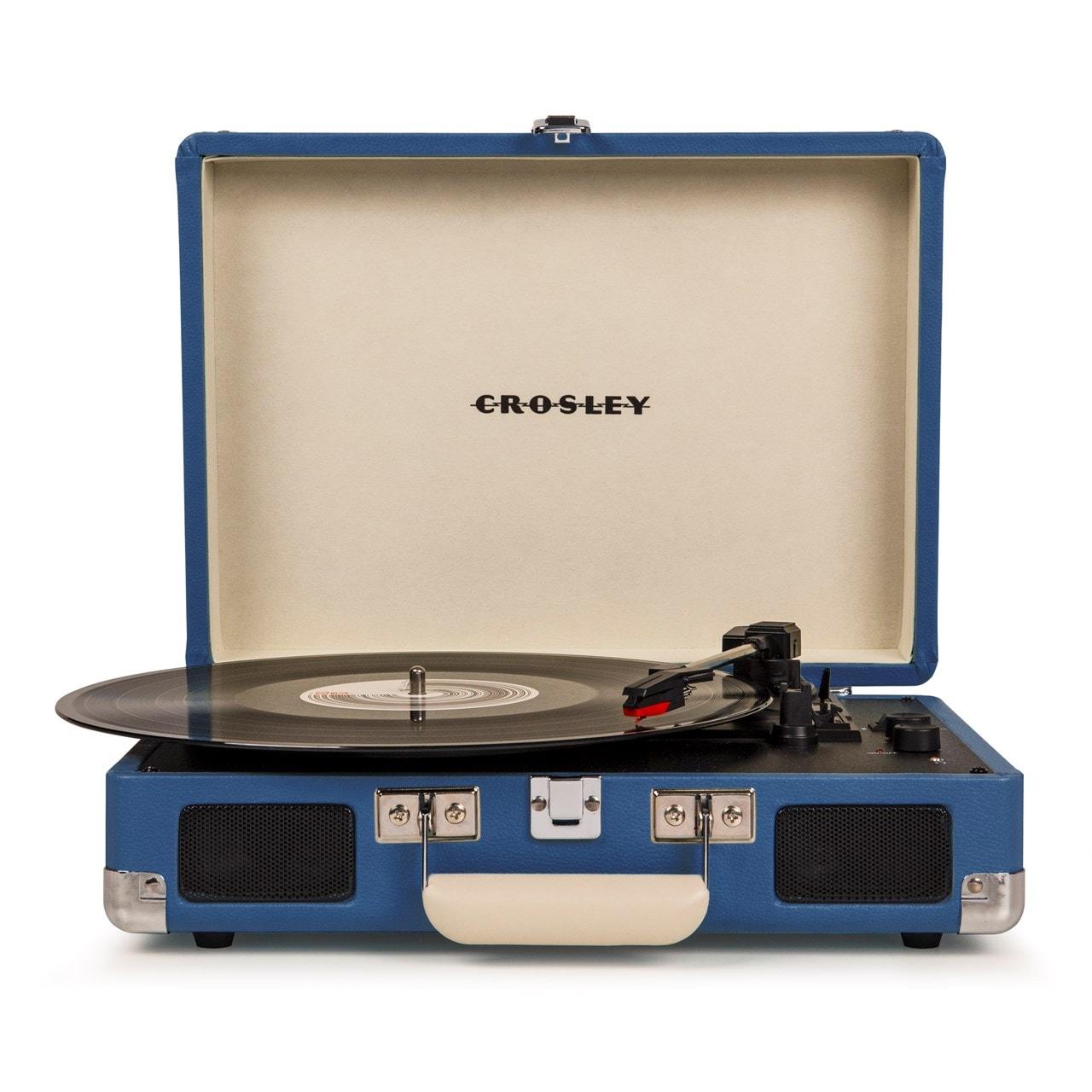 Crosley Cruiser Deluxe Blue Turntable - 1