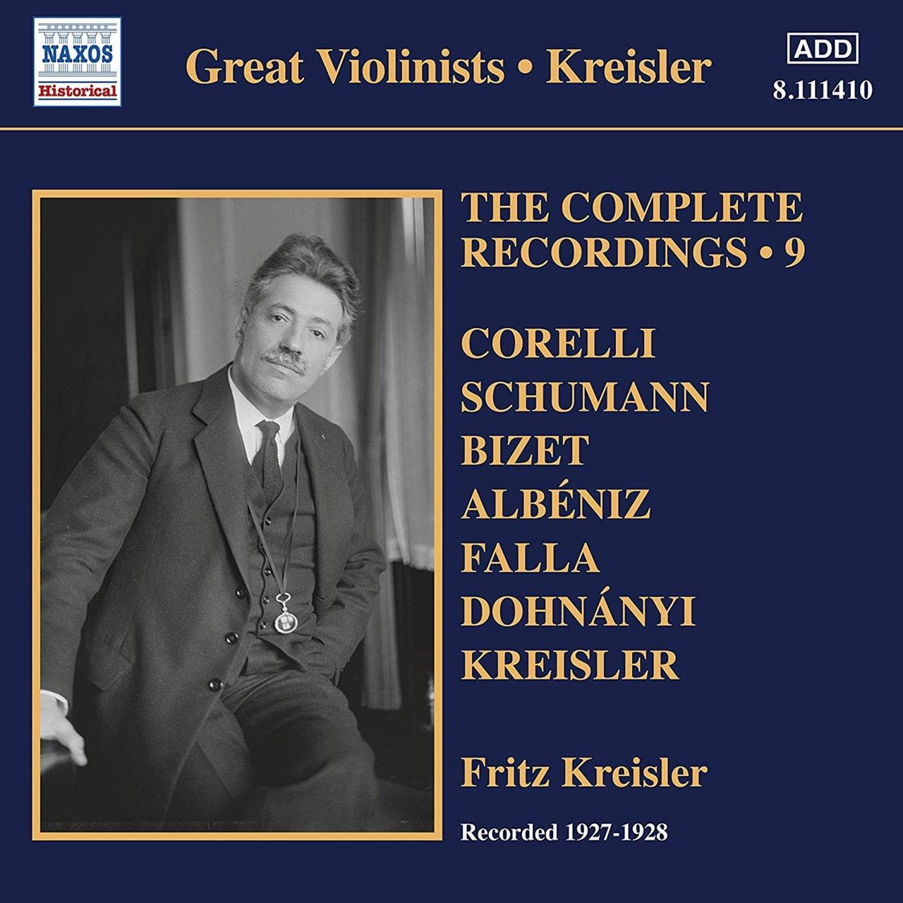 Fritz Kreisler: The Complete Recordings: Recorded 1927 - 1928 - Volume 9 - 1