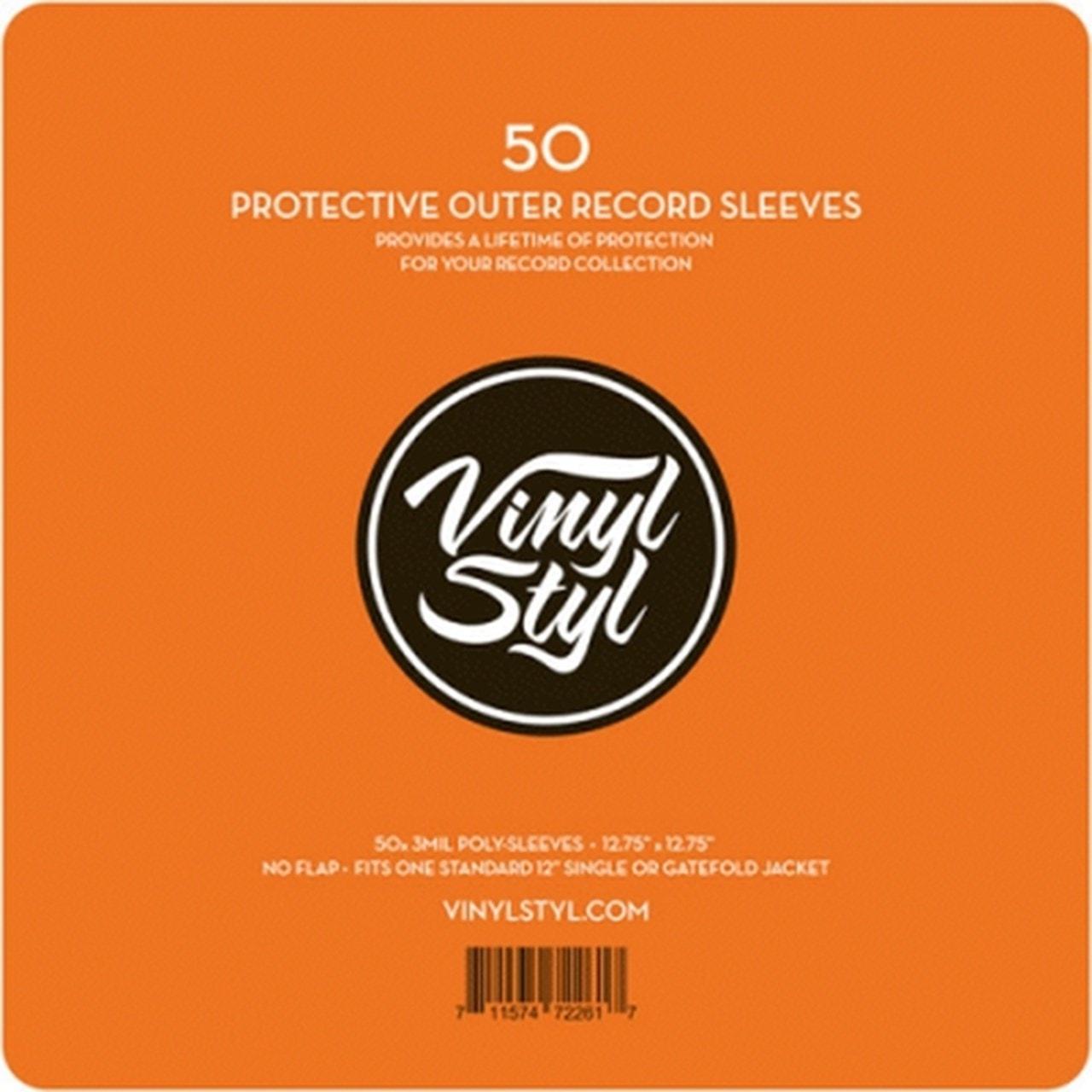 """Lasgo 50 Pack 12"""" Vinyl Sleeves - 1"""