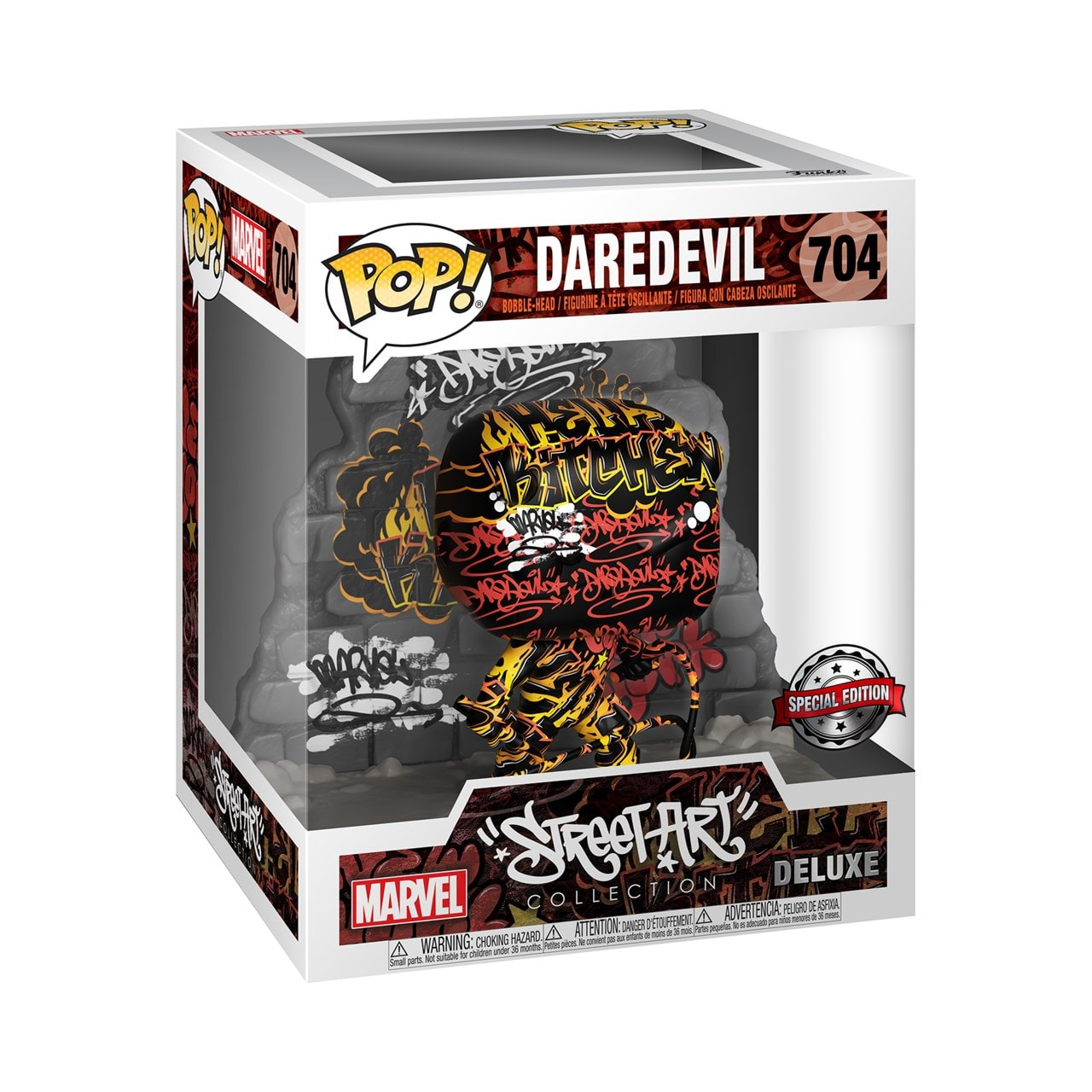 Daredevil Graffiti Deco (704) Marvel Deluxe Street Art Collection (hmv Exclusive) Pop Vinyl - 2