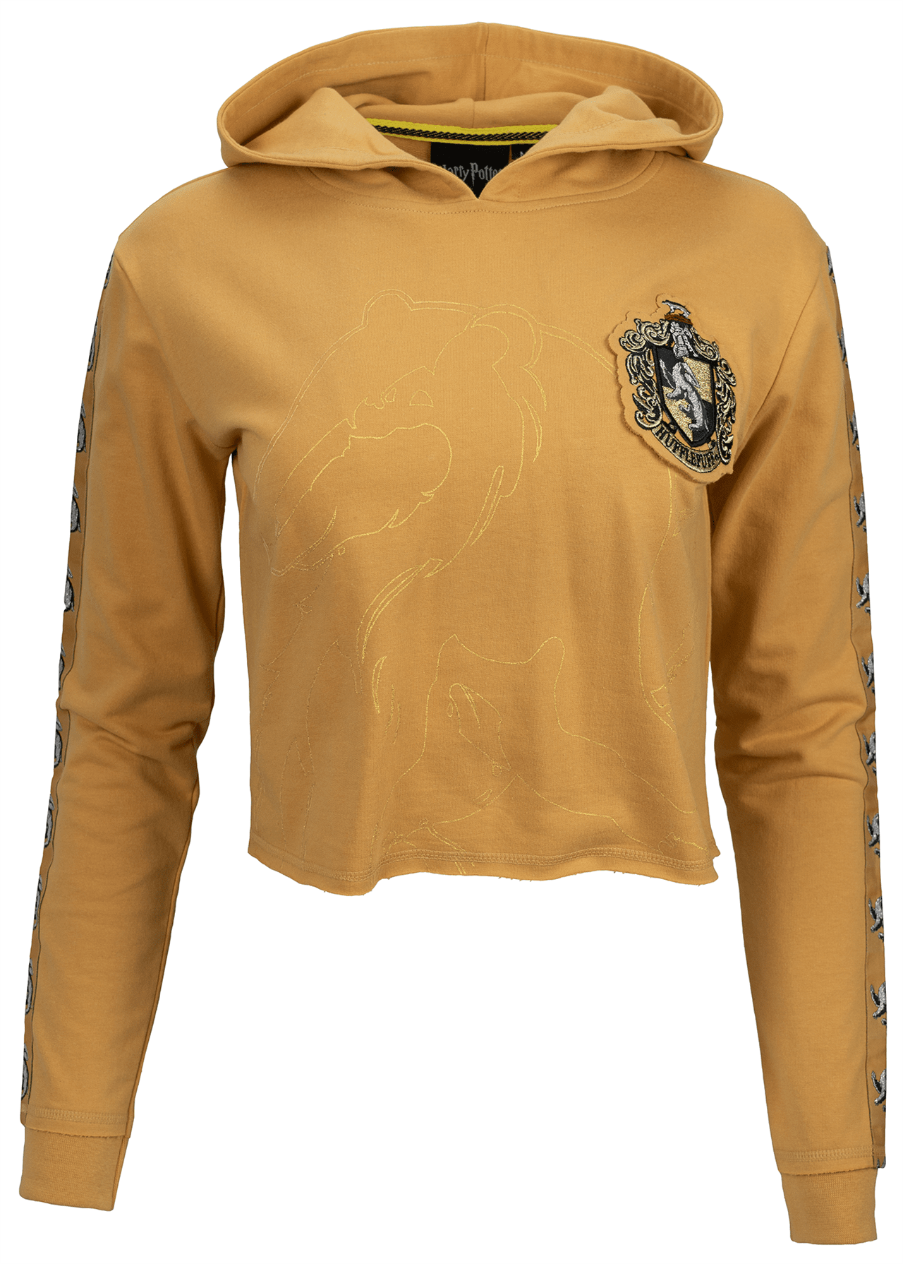 Harry Potter: Hufflepuff Ladies Cropped Hoodie (Small) - 1