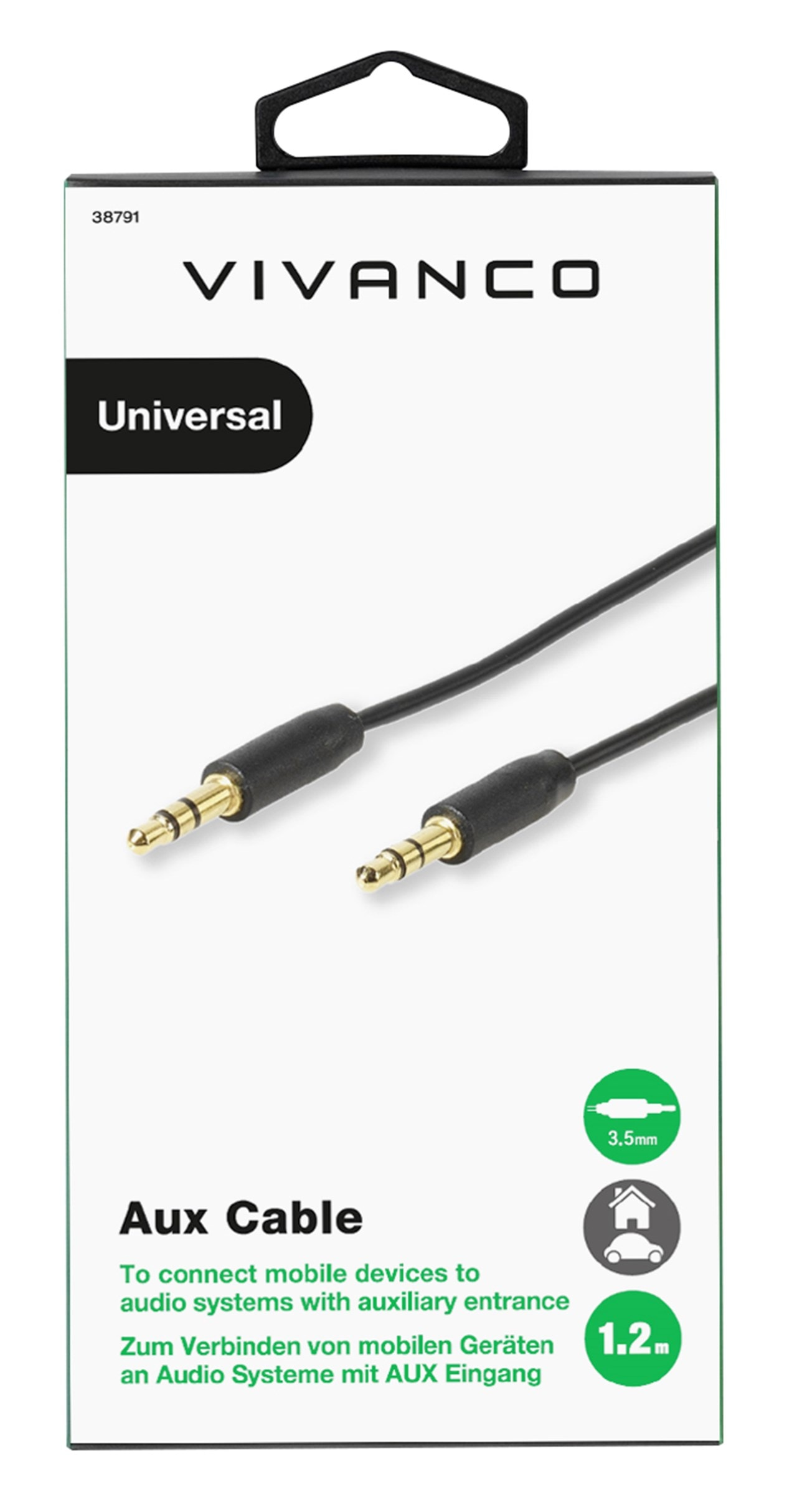 Vivanco Auxiliary Cable 3.5Mm - 1