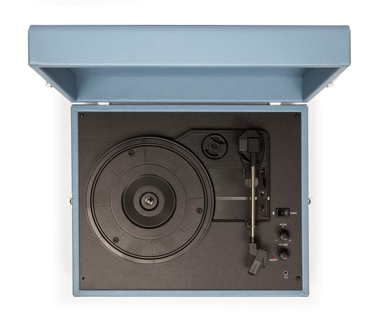 Crosley Voyager Washed Blue Turntable - 7
