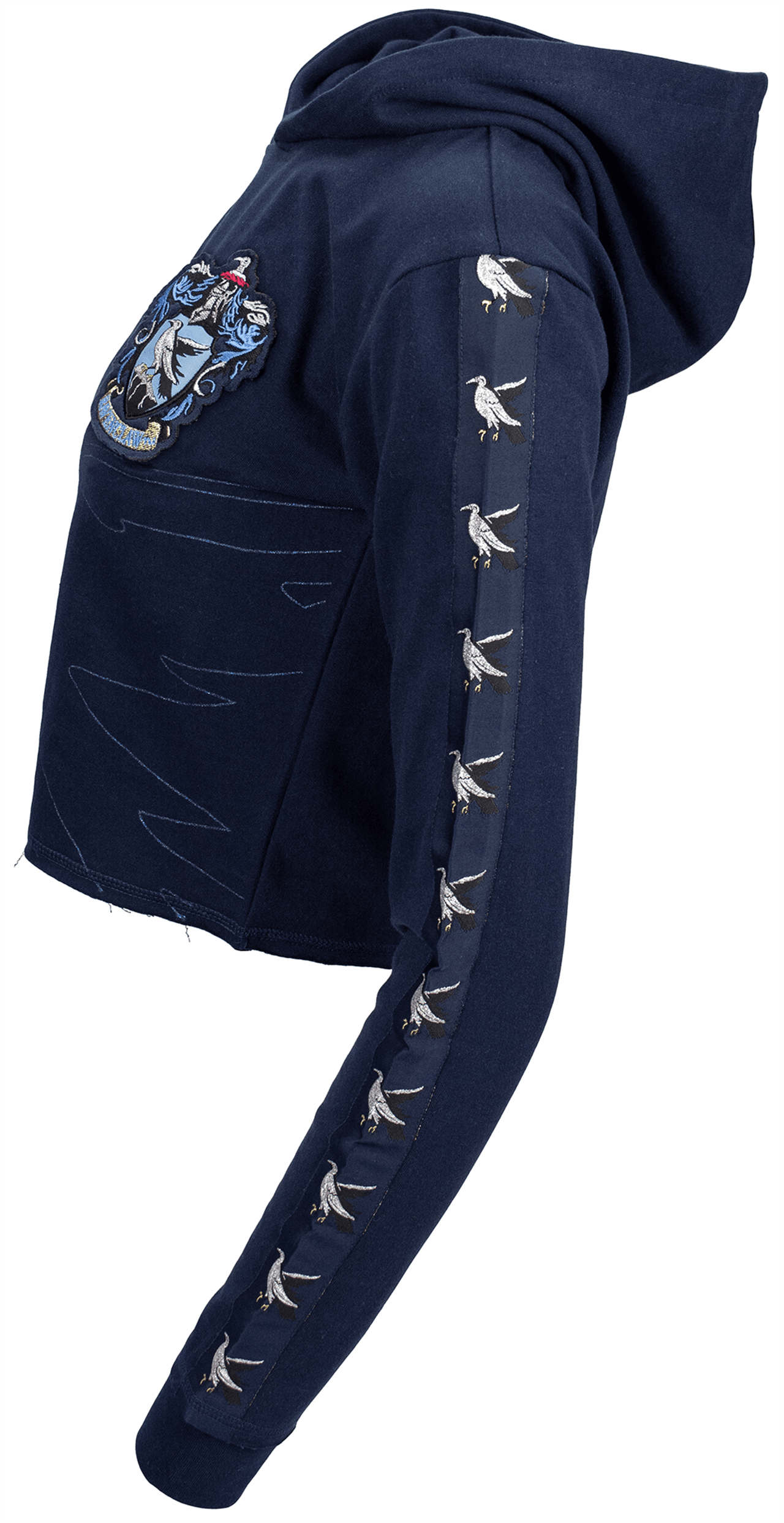 Harry Potter: Ravenclaw Ladies Cropped Hoodie (Small) - 3