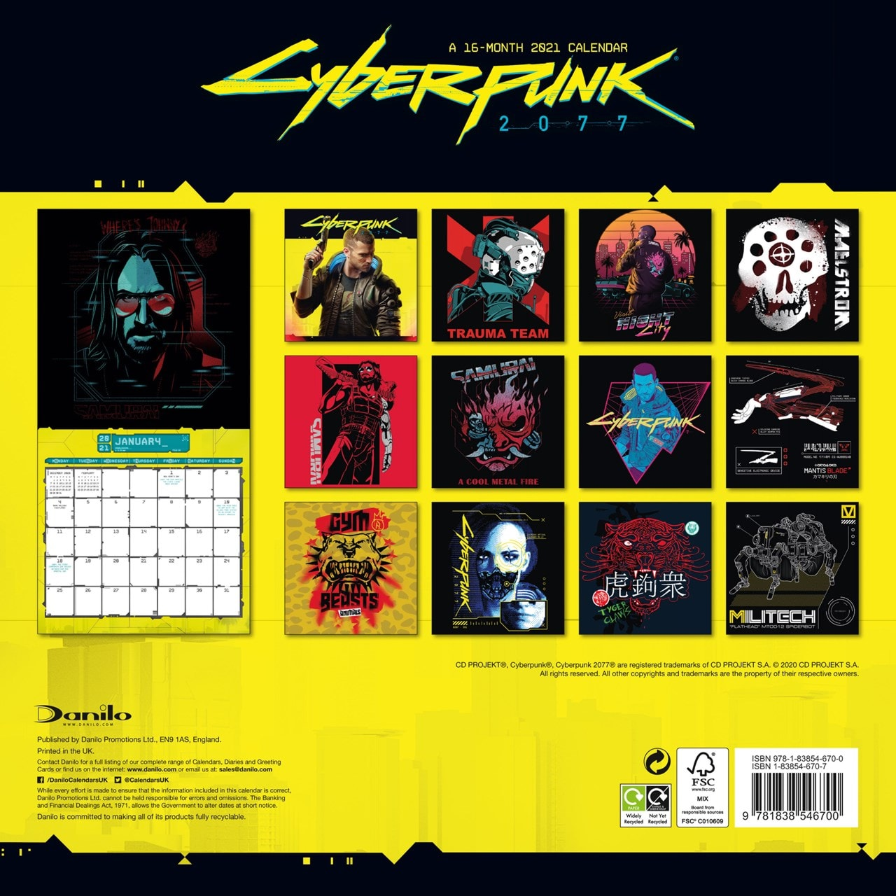 Cyberpunk: Square 2021 Calendar - 3