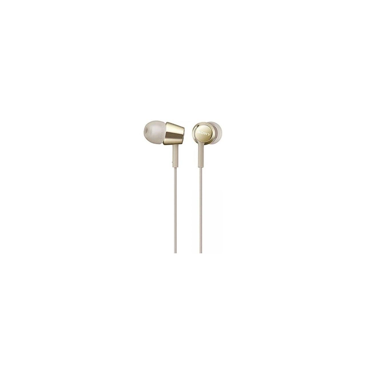Sony MDREX155AP Gold Earphones w/Mic - 1