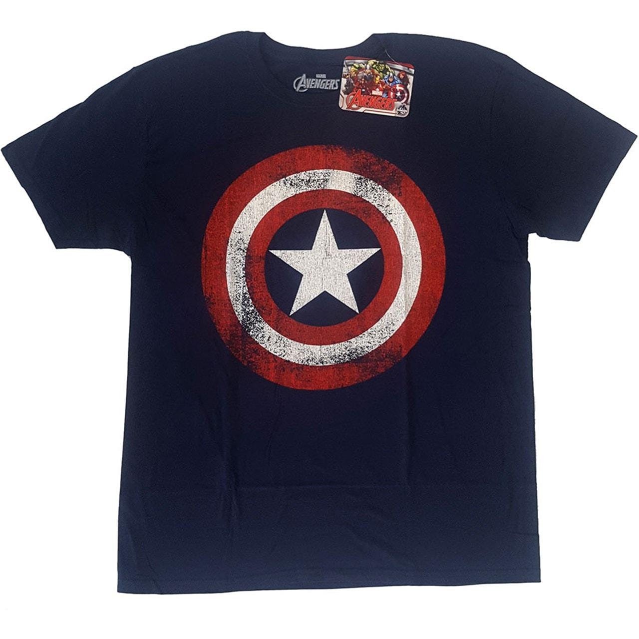 Captain America: Distressed Shield (Small) - 2
