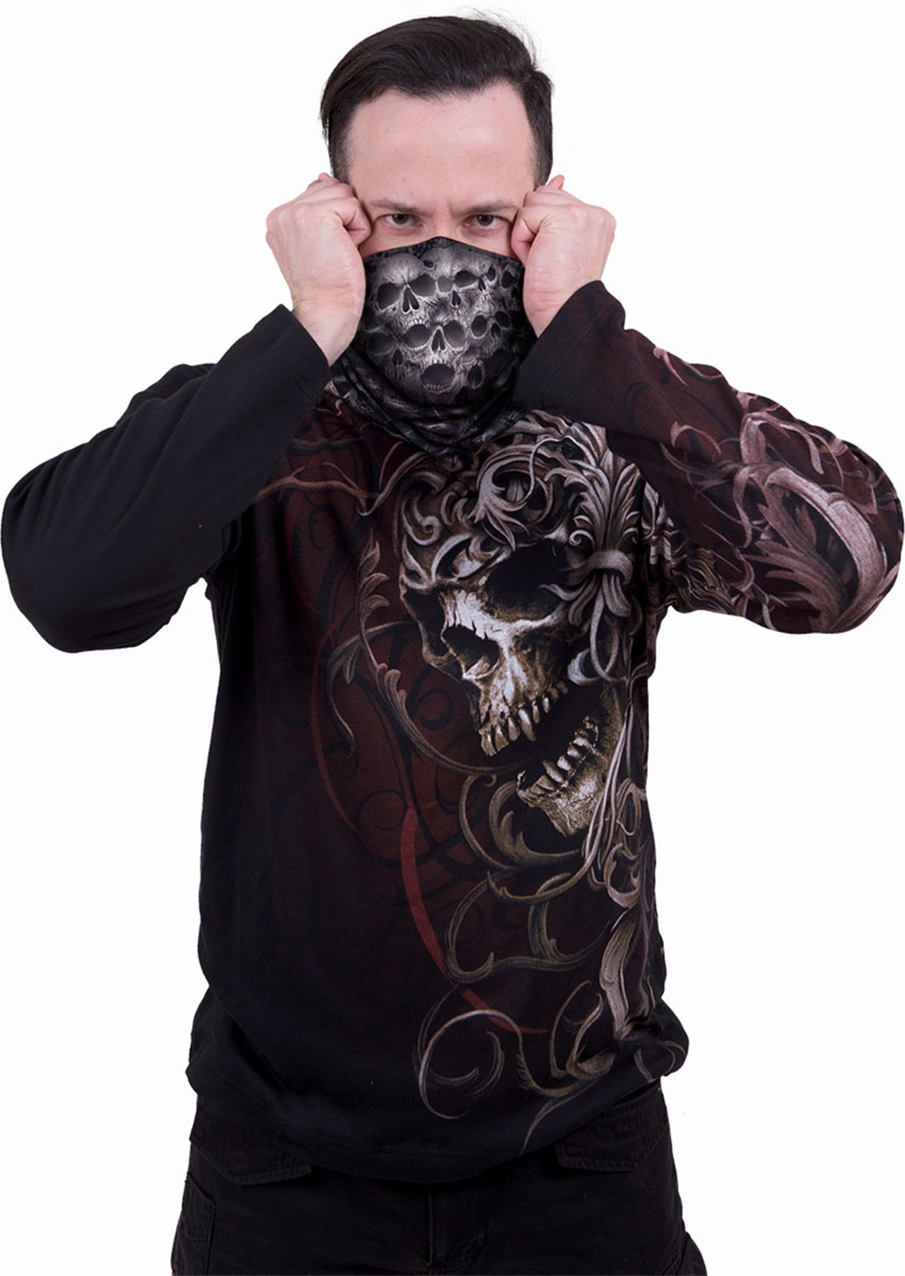 Twisted Skulls Face Covering - 2