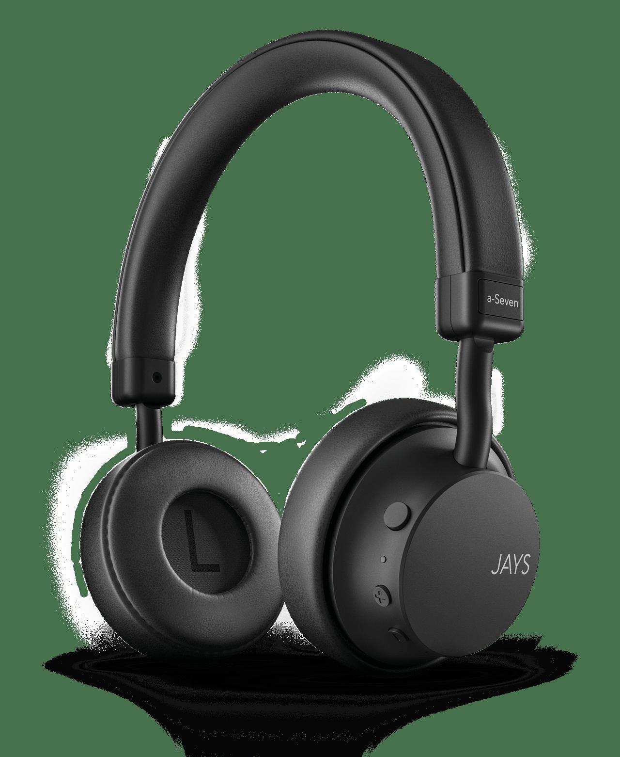 Jays A-Seven Black Bluetooth Headphones - 1