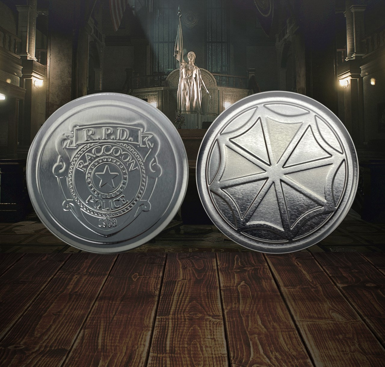 Resident Evil: Metal Embossed Coaster Set - 1
