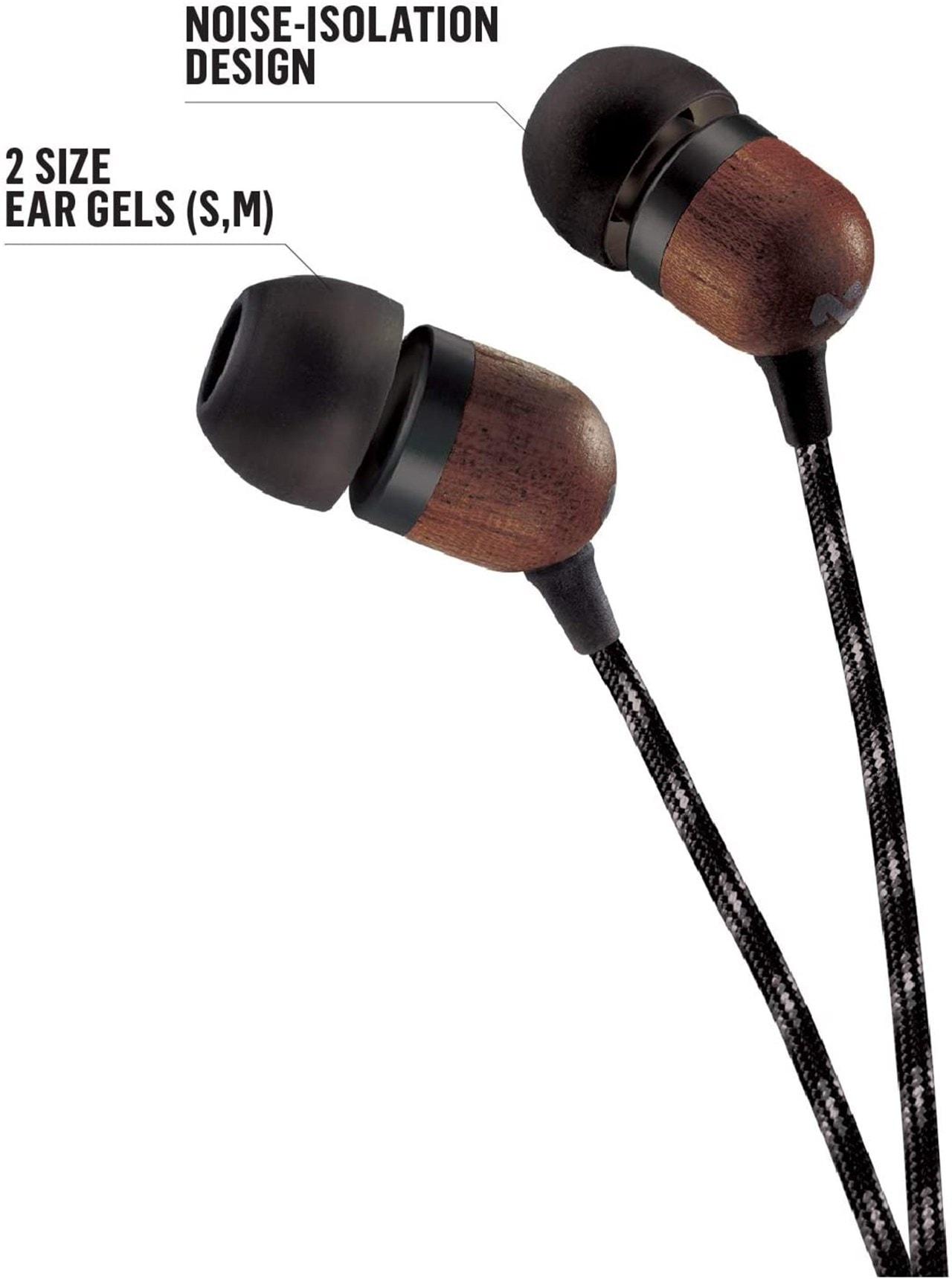 House Of Marley Smile Jamaica Signature Black Earphones W/Mic - 3