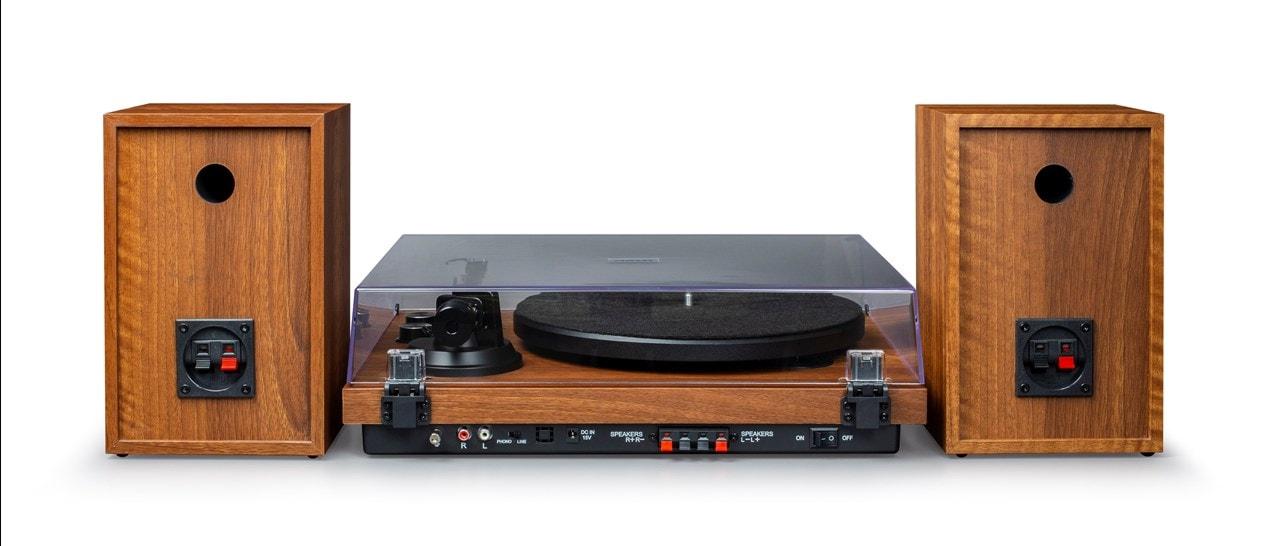 Crosley C62 Walnut Turntable & Speakers - 5