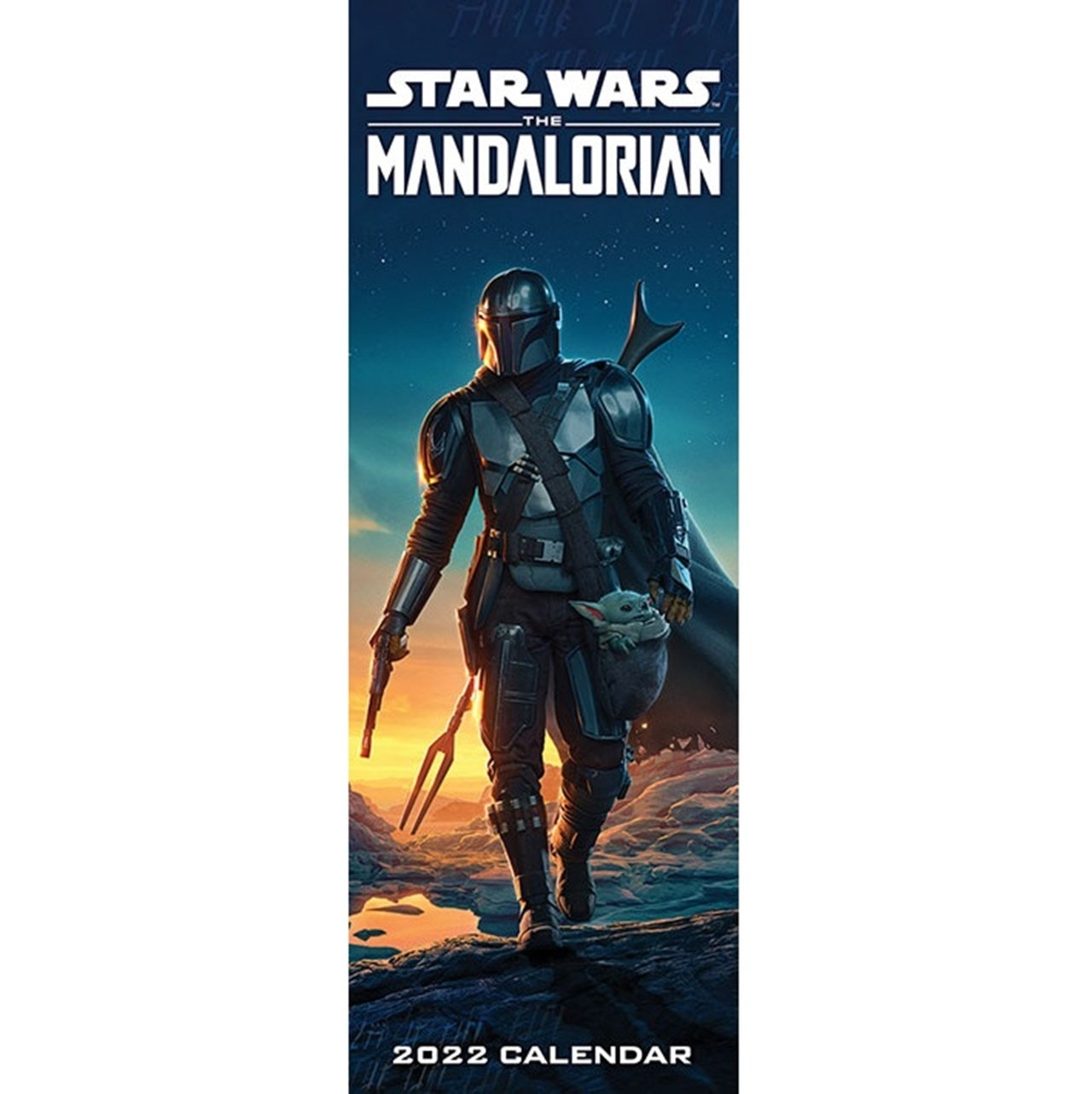 Star Wars Calendar 2022.The Mandalorian Star Wars Slim 2022 Calendar Calendars Free Shipping Over 20 Hmv Store